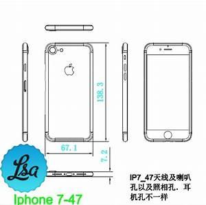 Maße Iphone 6 : iphone 7 neue schematische zeichnungen verraten abmessungen macerkopf ~ Markanthonyermac.com Haus und Dekorationen