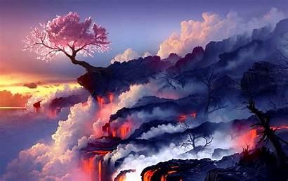 Cherry Blossom Blossoms Fantasy Wallpapers Landscape 4k