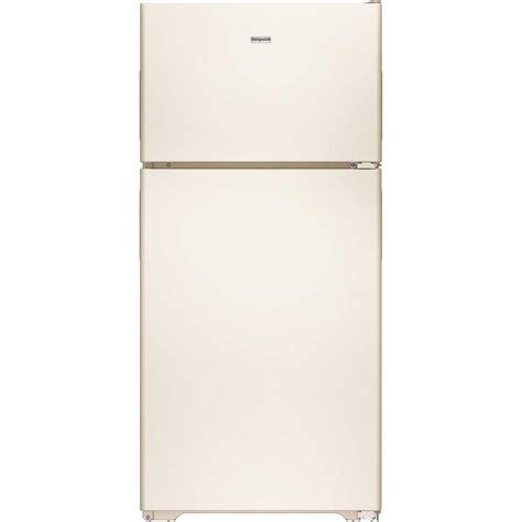 hotpoint  cu ft top freezer refrigerator  bisque