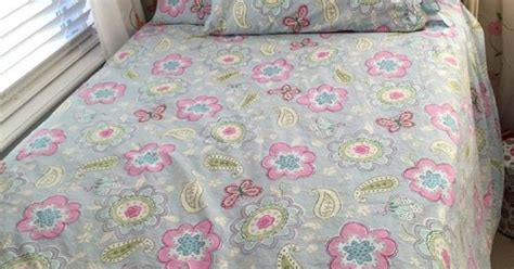 Pottery Barn Kids Samantha Full/queen Blue Butterfly Duvet