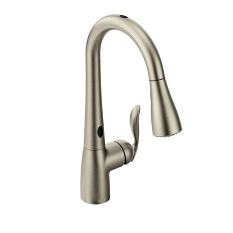 moen motionsense kitchen faucets 7594esrs moen arbor series motionsense pull