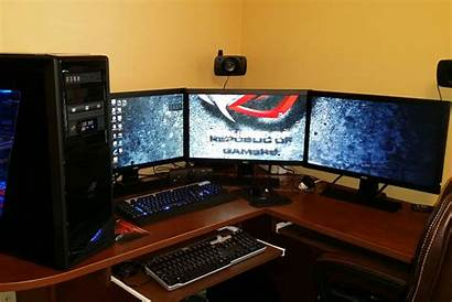 Monitors Gaming Multiple Pc Dual Three Connect