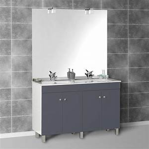 Meuble Salle De Bain Double Vasque Pas Cher : meuble salle bains double vasque ~ Teatrodelosmanantiales.com Idées de Décoration