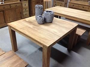 Säulentisch 80 X 80 : eettafel vierkant met blokpoten ~ Bigdaddyawards.com Haus und Dekorationen