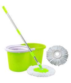 Kitchen Canisters Green Easy Mop Green Spin Mop