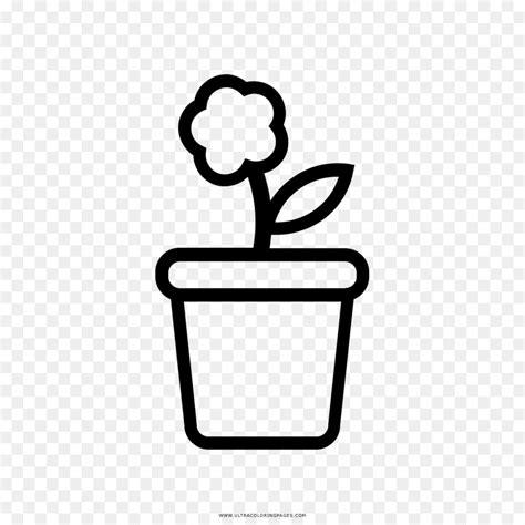 gambar mewarnai pot bunga gambar mewarnai bunga