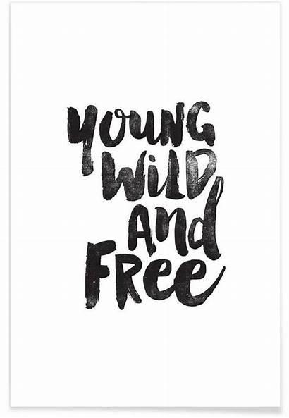 Wild Young Quotes Juniqe Poster Premium Motivated