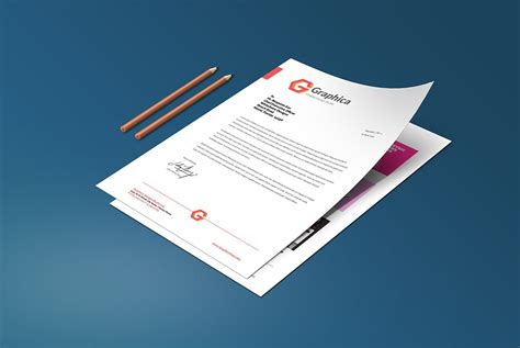 resume  cover letter mockup template psd  psd