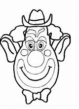 Coloring Pages Clowns Clown Face Coloringpages1001 sketch template