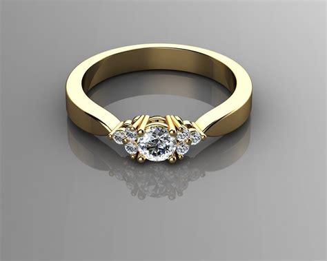 engagement rings 3d 3d printable stl 3dm cgtrader com