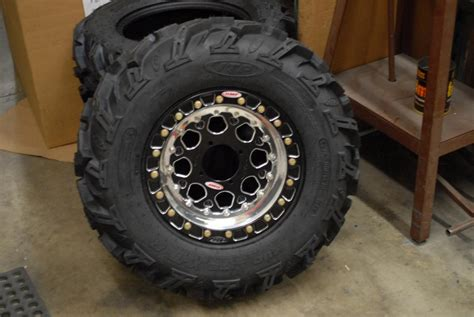 modified douglas wheels  omf beadlocks yamaha grizzly