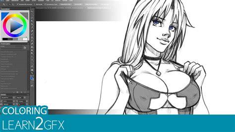 video tutorial colorieren von anime zeichnungen  adobe
