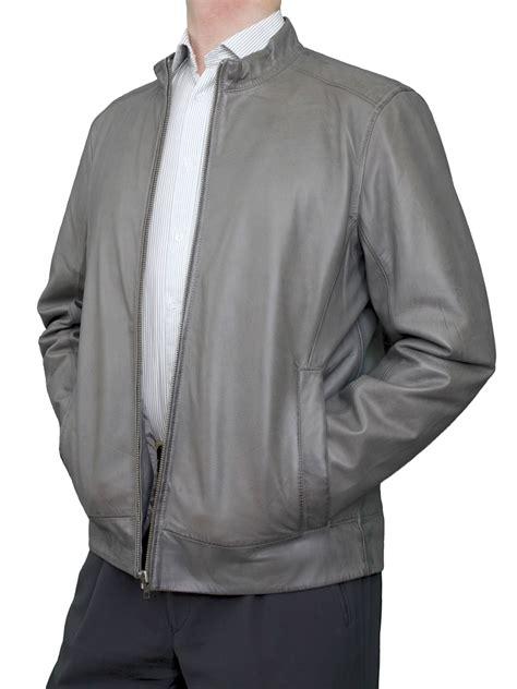 Mens Luxury Leather Bomber Jacket (3 colours) - Tout Ensemble