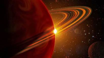 Planet Saturn Wallpapers Sun Orbiting Desktop Stocktrek