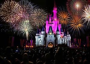 Disney World Castle Fireworks Wallpaper   Desktop ...