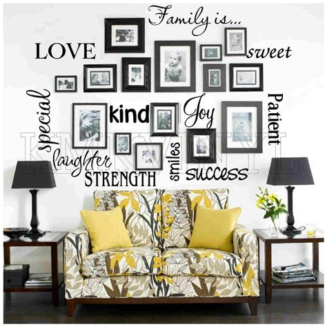 Their brightness makes them easily noticeable and engaging. Vinyl lettering FAMILY IS sticky word quote wall art | eBay