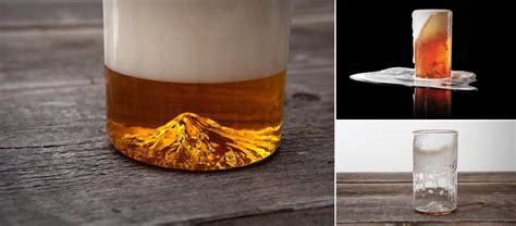 mountain pint glass  north drinkware jebiga