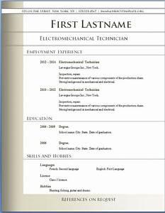 Free CV templates 72 to 78 – Free CV Template dot Org