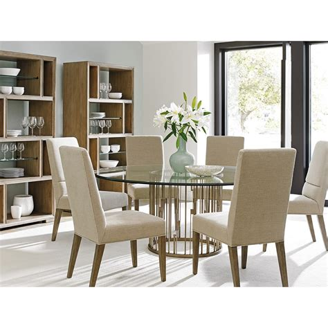 Lexington Shadow Play Seven Piece Dining Set With Glass