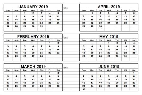 months  year calendar printable