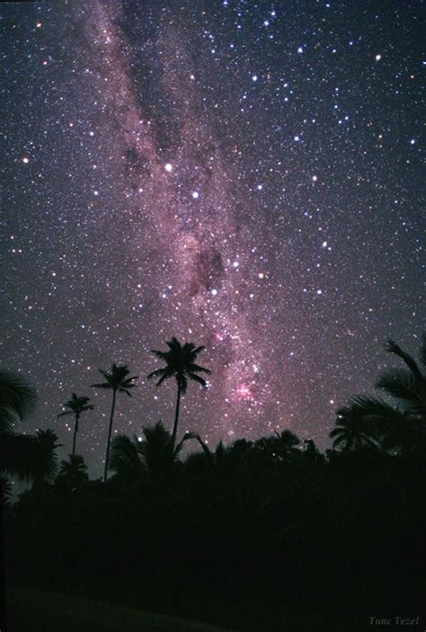Starry Sky Of Cook Islandsso Bright You Can Stand On
