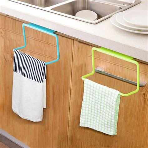 towel rack kitchen cabinet door tea towel rack bar hanging holder rail organizer 6311