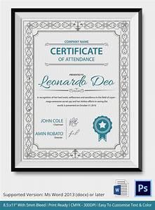 certificate of attendance seminar template - word certificate template 31 free download samples