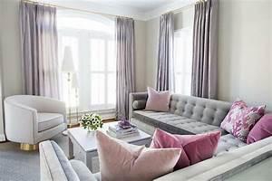 Salon Gris Et Rose : salon rose et gris ff ~ Melissatoandfro.com Idées de Décoration