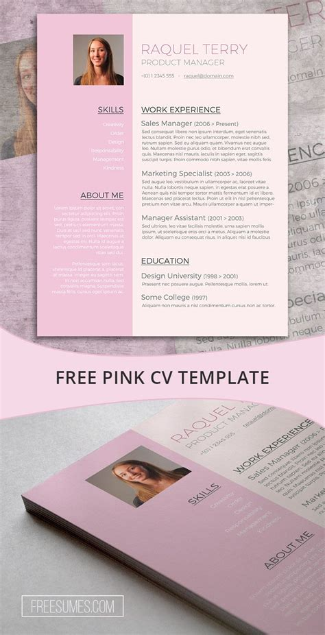 Pretty Resume Templates by 17 Best Images About Free Resume Templates For Word On