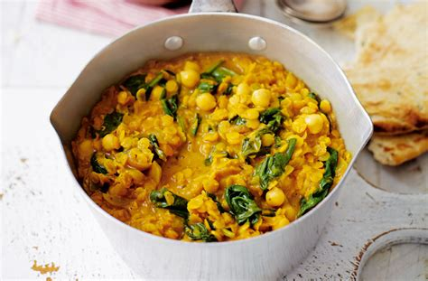drain pan spinach and chickpea coconut dhal tesco food