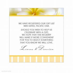 wedding gift registry wording imbusy for With registry inserts for wedding invitations templates