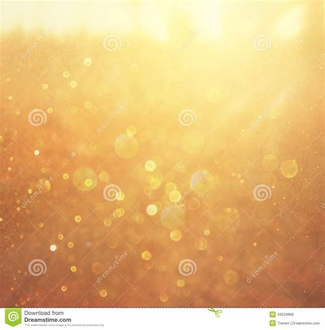 Warm Golden by Gold And Warm Abstract Bokeh Lights Defocused Background