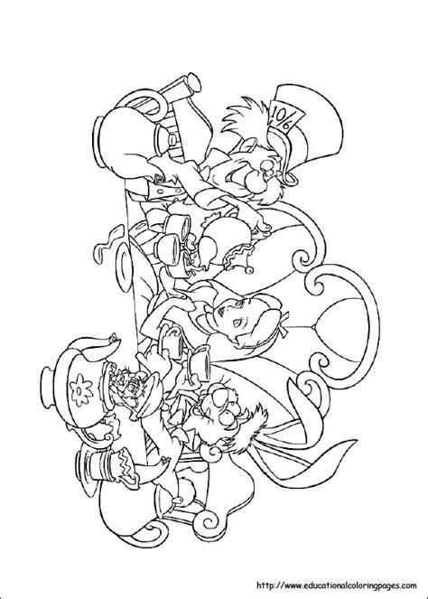 alice  wonderland coloring pages   kids