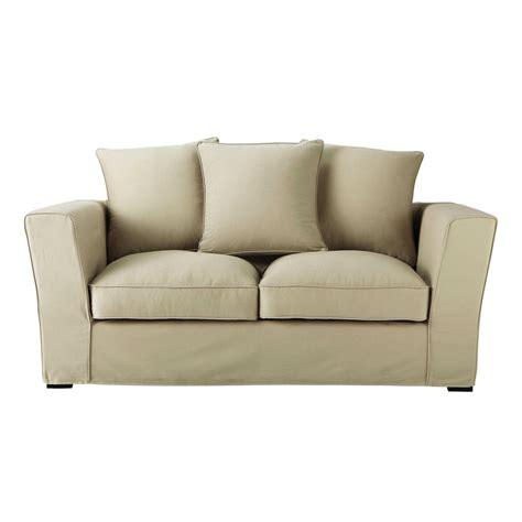 canapé 2 places en tissu canapé 2 3 places en tissu mastic balthazar maisons du monde