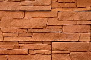 Red stone cladding texture stock photo. Image of color ...