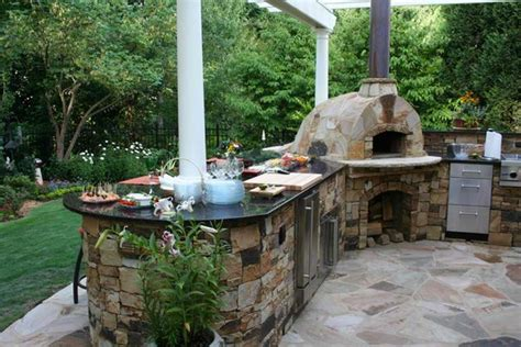 outdoor kitchen pizza oven design 15 ideas for highly functional traditional outdoor 7243