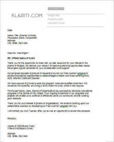 Cover Letter For Funding Grant Template Instant