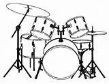 Drums Coloring Template Musical Majestic Para Sketch Musicais Instrumentos Salvo sketch template