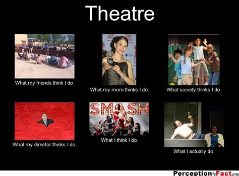 Theatre Memes - theatre what people think i do what i really do perception vs fact