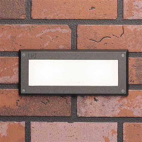 kichler 15074azt outdoor 12v recessed brick light