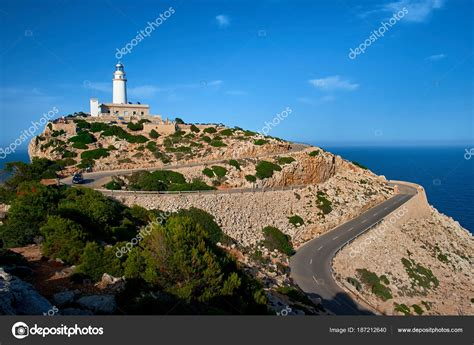 Lighthouse Cap Formentor Majorca While Sunset — Stock