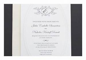 free monogram wedding invitation templates wblqualcom With wedding invitation video maker templates free download