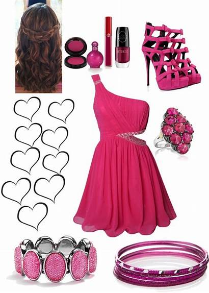Dresses Casual Pink Outfit Polyvore Guests Outfits
