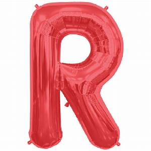 letter r 34 inch foil balloon With red mylar letter balloons