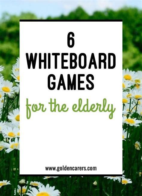 whiteboard games   elderly activities