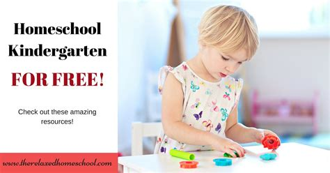 you can homeschool kindergarten for free learn how