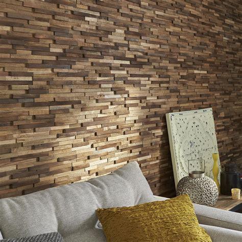 plaquette de parement cuisine plaquette de parement bois recyclé marron boho leroy merlin