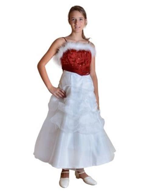 fin de stock robe de soiree enfant rouge pour noel ou