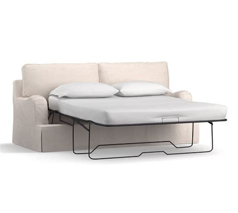 Slipcovered Sleeper Sofas by Pb Comfort Arm Slipcovered Sleeper Sofa Pottery Barn