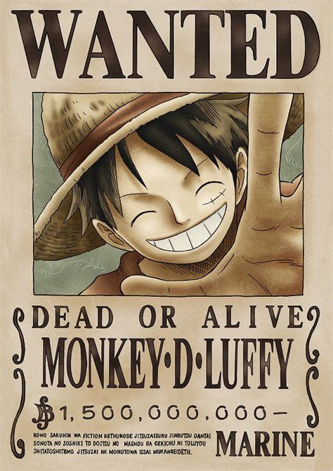 wanted posters  piece wiki fandom